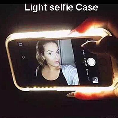 Generic Brand LED Light selfie Light Selfie Led Cover Light Up Phone Case for Samsung Galaxy S6 S7 Edge Plus(China (Mainland))