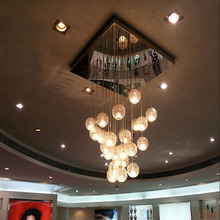 Creative Meteor Crystal Ball Ceiling Lights Led Modern Minimalist Living Room Ceiling Dining 30 Lights(China (Mainland))