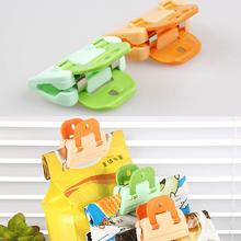 Newly Arrival 2pcs Convenient Plastic Food Sealing Clip Home Traveling Necessity Color Random HG-1603
