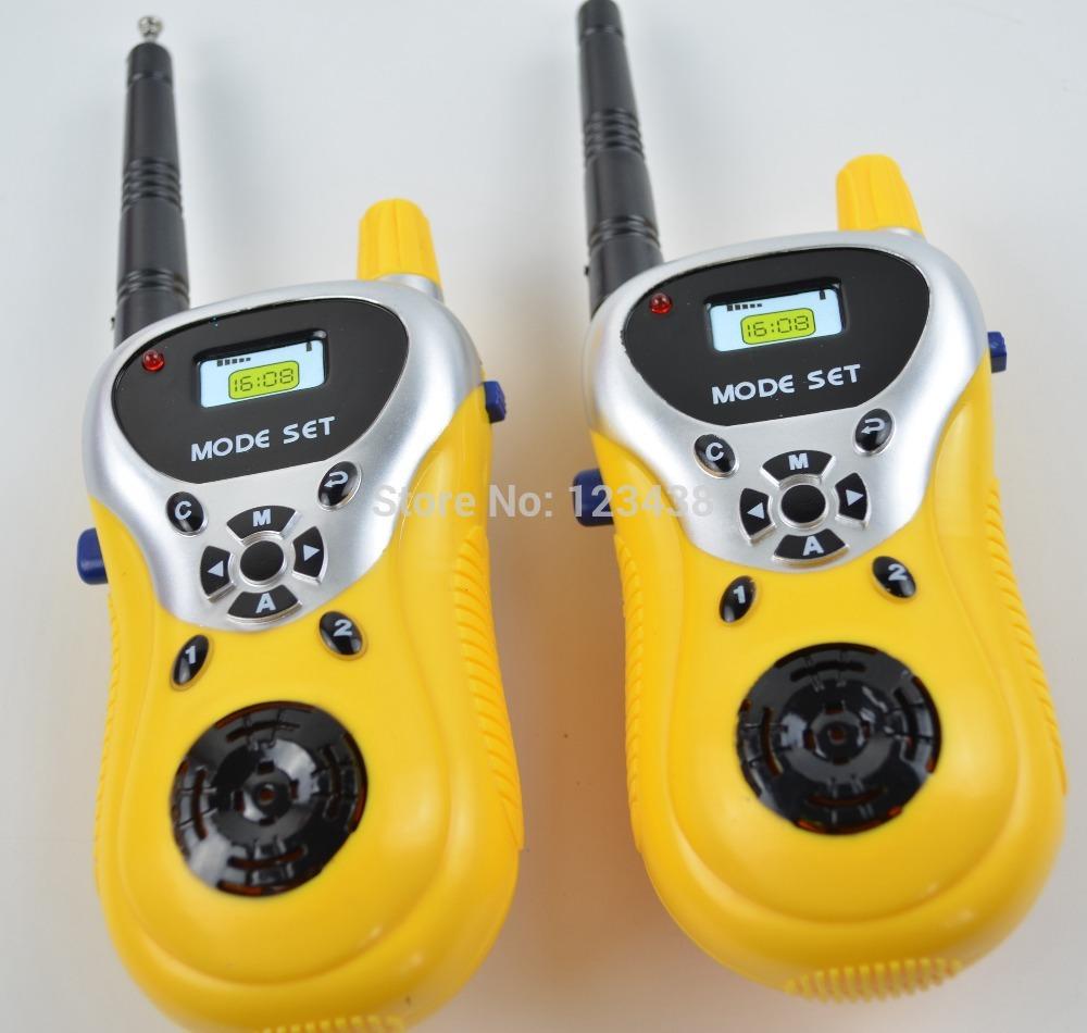 Child Kids Yellow Walkie Talkie Parent-child Game Mobile Phone Telephone Talking Toy(China (Mainland))