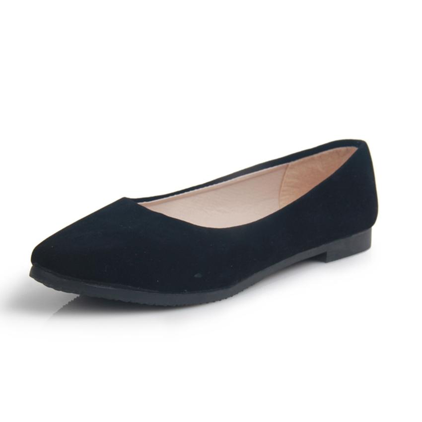 Hot Selling Women Shoes Suede Women's Shoes Woman Flats New Fashion Zapatillas Mujer Women's Ballets Flats(China (Mainland))