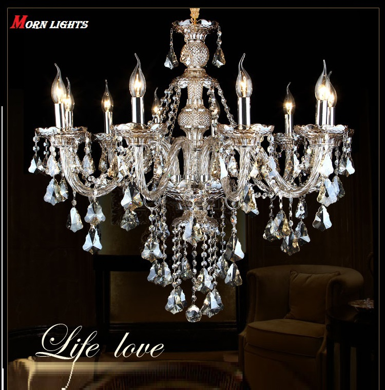 fashion candle crystal chandelier light living dining room chandelier