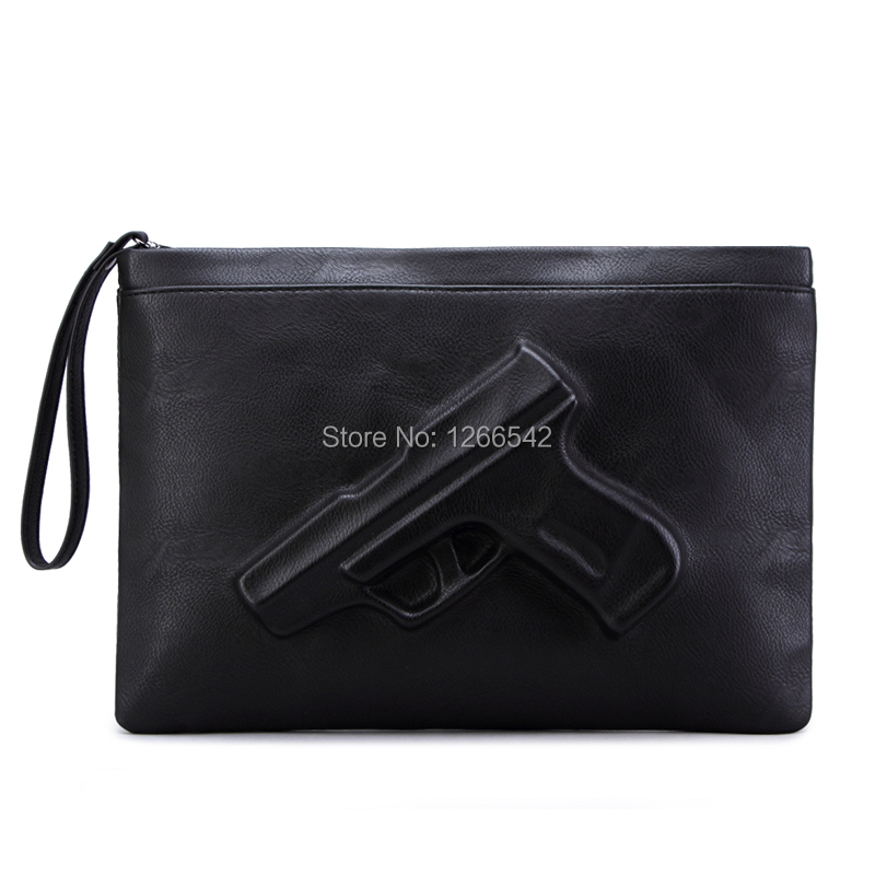 Factory sale Women messenger bags Yellow red rose 3d gun print shoulder bags middle size black lady clutches free shipping(China (Mainland))
