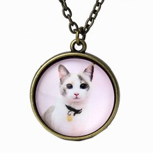 Cats Art Print Necklace