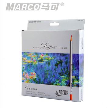 7100-72cb marco advanced professional colored pencil 72 oiliness color carton stationery school supplies