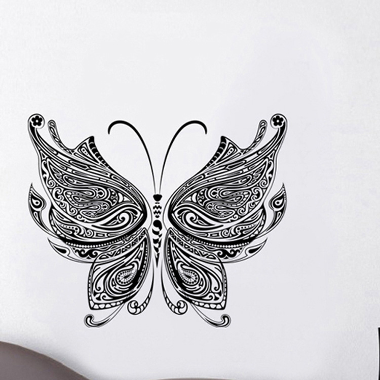 Chinese wind butterfly PVC decorative green wall stickers(China (Mainland))