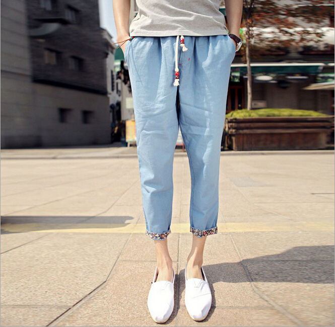 Mens Casual Linen Trousers Pants Men's Linen Trousers