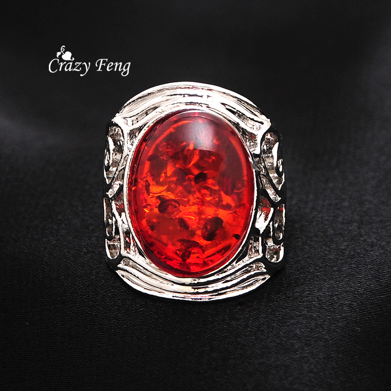 Popular amber stone ring buy cheap amber stone ring lots for Amber stone wedding ring