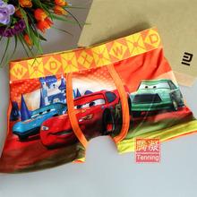 Free shipping 6 pcs 3 10 ages cotton cartoon boxers boy children kids short boxers boys