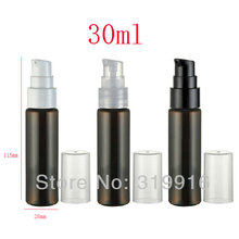 30ml x 50 brown plastic lotion bottles,30cc empty PET cream bottle pump,1oz cosmetic packaging,cosmetic containers pump - Packaging E shop store