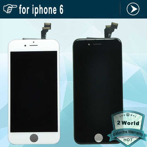10pcs White&Black LCD Display Digitizer For iPhone 6 4.7 inch Touch Screen Digitizer Assembly For iPhone 6 6G DHL free shipping