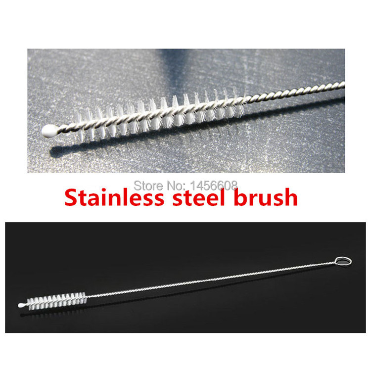2014 new stainless steel wire cleaning brush straws milk bottle cleaning brush 500pcs/lot Free shipping(China (Mainland))
