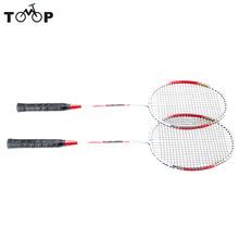 Lightweight Badminton Racquet with Carry Bag 2Pcs Aluminium Alloy Training Badminton Racket Sport Equipment Durable(China (Mainland))