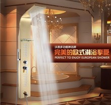free shipping 304 Stainless steel shower set Shower Panel Waterfall Shower Massage Jets Hand Shower