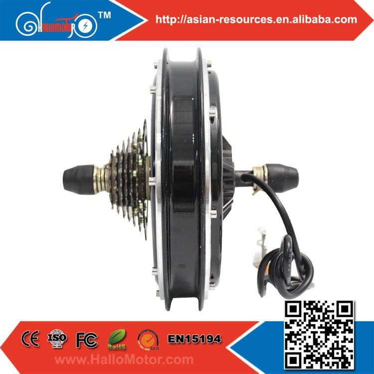 2015 Latest Design Super Powerful 48V 500W Brushless Gearless DC Hub Motor-Cassette Freehub Electric Bike Rear Wheel