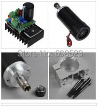 400W CNC Spindle Motor Kits PWM Speed Controller With Mount Bracket