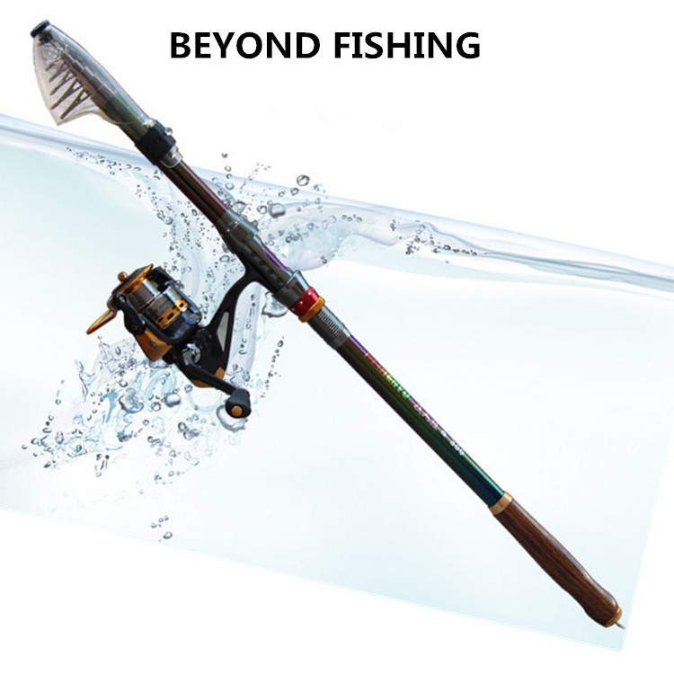 TOP Carbon Spinning Fishing Rod Suitable For Shimano Reel 2 1m 3 6m Telescopic Rock Feeder