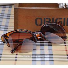 Fashion Vintage Sunglasses Retro Cat Eye Semi Rim Round Sunglasses for Men Women Sun Glasses Eyewear