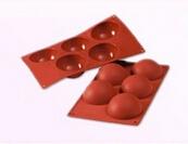 Cake Tool 1 pc Dia8 cm Semi Half Ball Hemisphere Silicone Baking Mold Cake Mould Round Muffin Cup Chocolate Soap Fondant DIY
