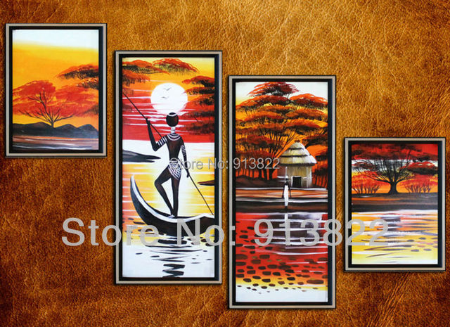 Free Shipping Handmade Oil Paintings Africa Scenery Modern art Home decoration Living room