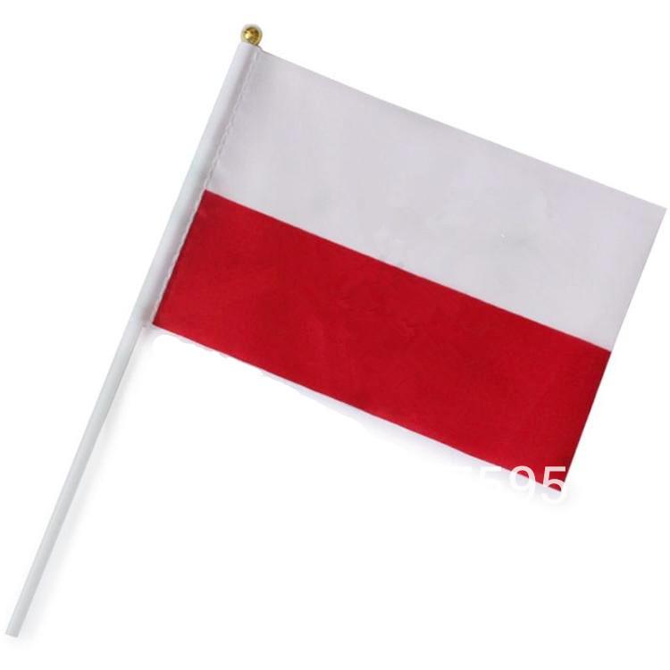 Здесь можно купить  Free shipping wholesale Poland good quality small National flags with pole 14*28 cm  Дом и Сад