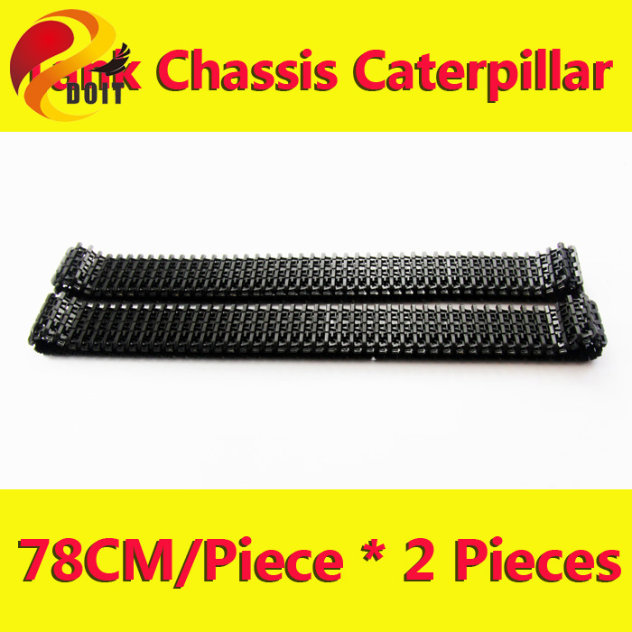 Original DOIT 2pcs/pair plastic Caterpillar Chain Track Pedrail Thread tracker Wheel for Tank Chassis DIY RC Toy remote control(China (Mainland))