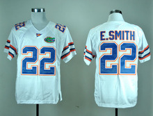 New #22 Emmitt Smith Jersey Florida Gators Emmitt Smith College Football Jersey Blue White Free Shipping(China (Mainland))