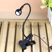 LED Desk Lamp Clip On USB Flexible Reading Light Table Lamp Study Bedside Light(China (Mainland))