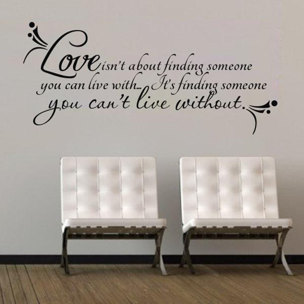 Love Live Wall Sticker Sentences Bedroom Decor Adesivo De Parede Sala 3d Wall Decoration Wall Vinilo