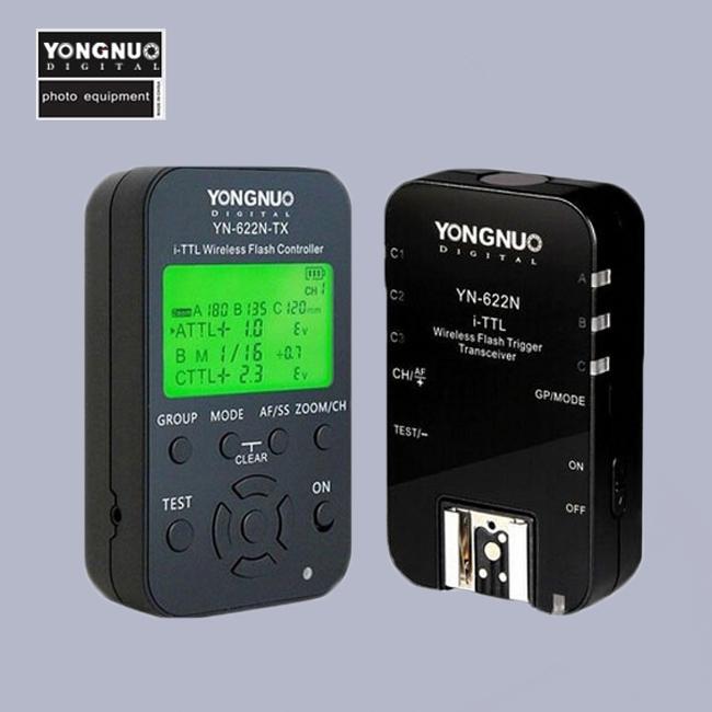 YONGNUO YN-622N-TX + RX YN-622N i-TTL LCD Display Wireless Flash Trigger Set for Nikon D800 D800E D800S D600 D610 D7200 D7100<br><br>Aliexpress
