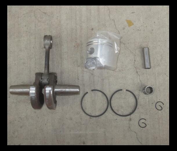 49cc-mini-bike-parts 49cc motor scooters minimoto 49cc-mini-bike-parts crankshafts+40mm pistons&rings 8pcs/lot free shipping