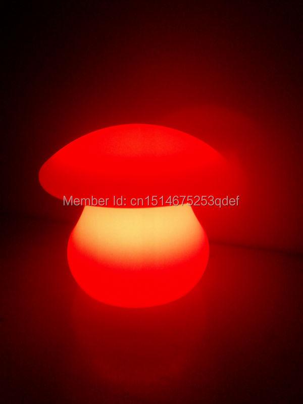 4pcs/lot D23 H21CM waterproof LED Mushroom night light Glowing Umbrella Table lamp Furniture for Desk /indoor room Reading Light(China (Mainland))