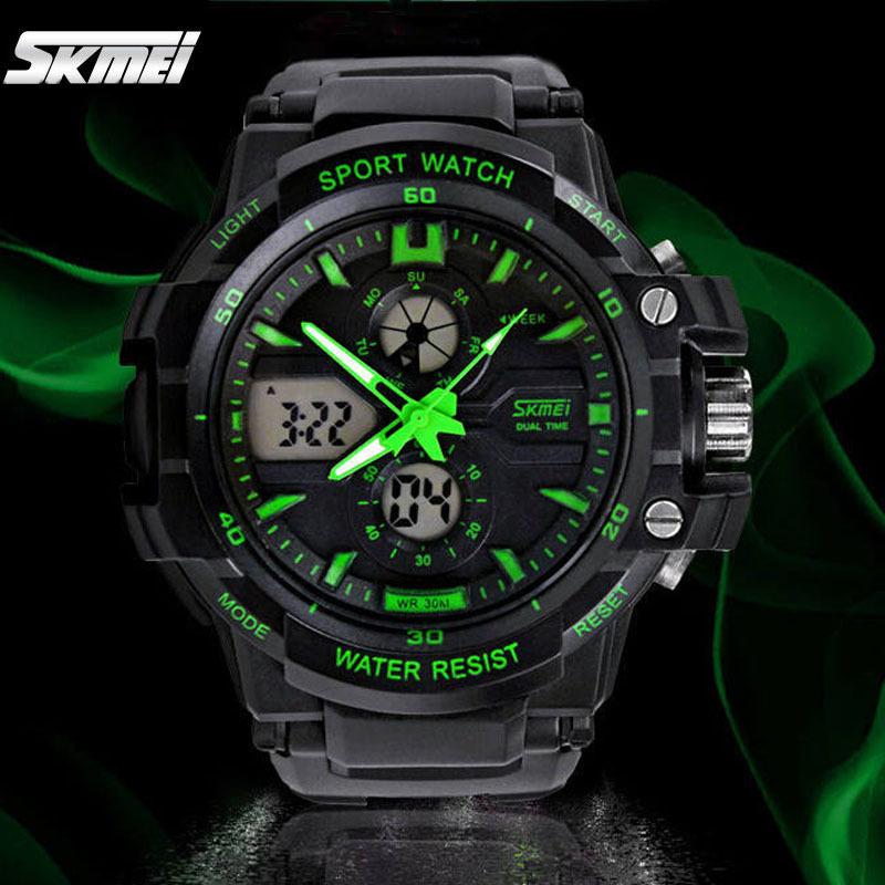 Гаджет  Fashion Digital watch Skmei 0990 military sport watches men luxury brand LED watch men quartz waterproof relogio masculino None Ювелирные изделия и часы