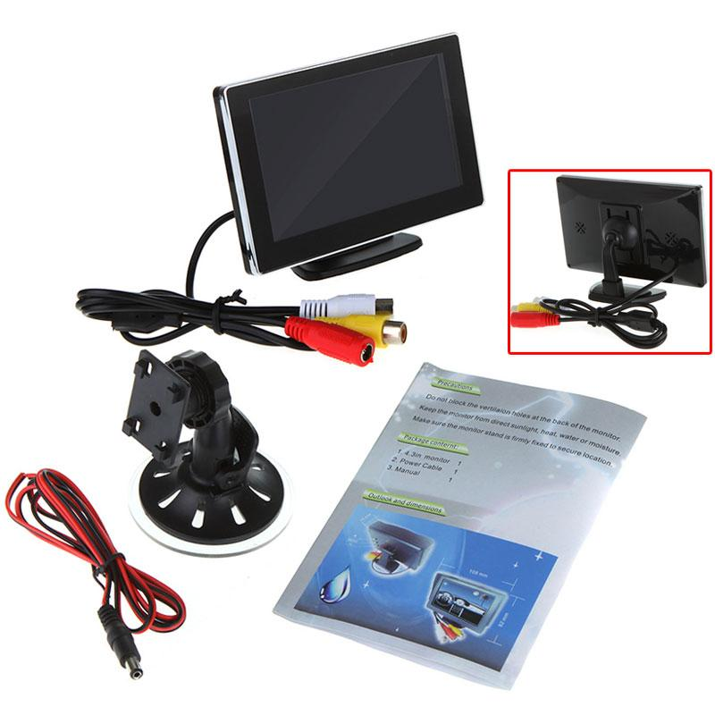 "4.3"" Color TFT LCD Car Monitor Rearview for VCD DVD GPS Camera Universal Car Monitor for Car Truck Boat for Toyota Honda KIA(China (Mainland))"