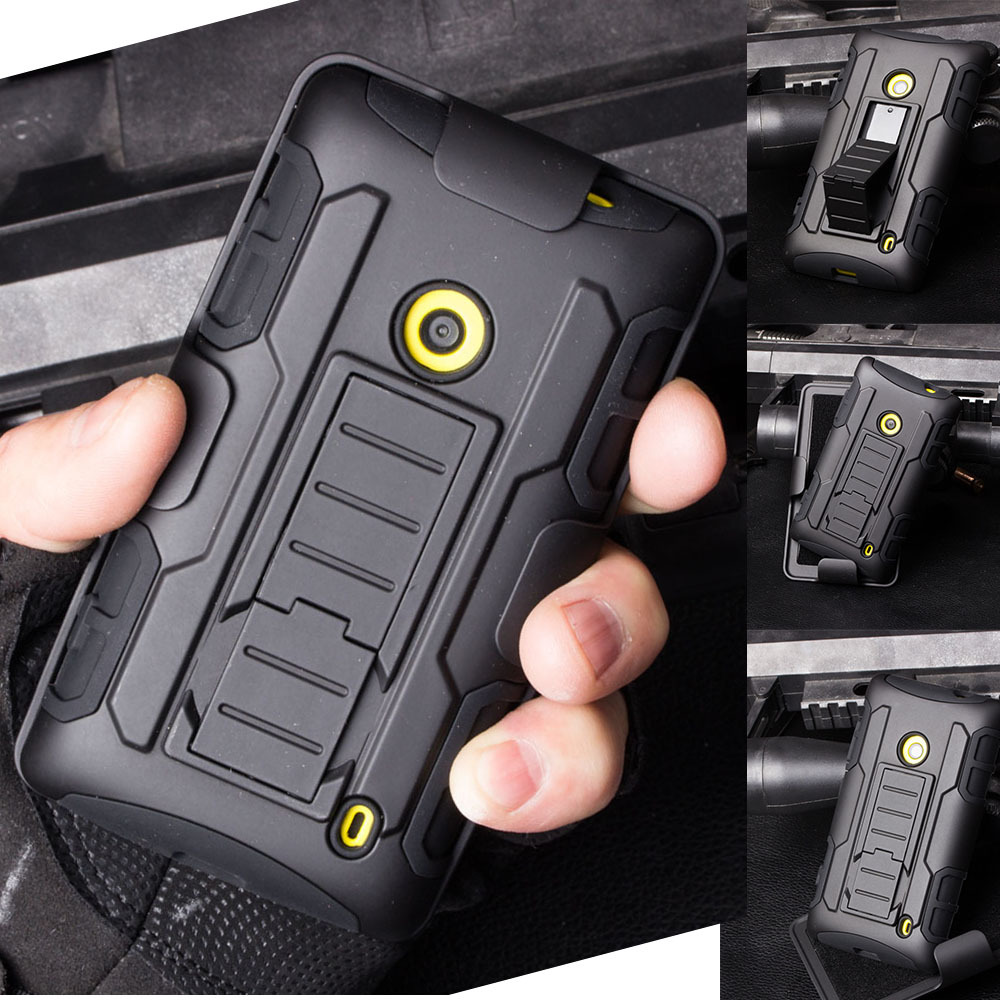 Armor Impact Shockproof Holster Hard Case for Microsoft Nokia Lumia 520 525 526 630 635 640 640XL 930 929 Mobile Phone Cases(China (Mainland))