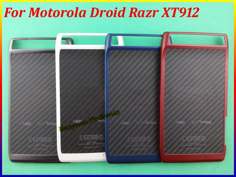 100% Original New Mobile Back Battery Housing Cover Case Door For Motorola Droid RAZR XT912 4Color(China (Mainland))