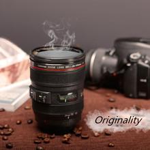 2016 Caniam SLR Camera Lens Cup 24-105mm 1:1 Scale Plastic Coffee Tea Cup MUG 400ML Creative Cups And Mugs With Lid M102 MUG-09(China (Mainland))