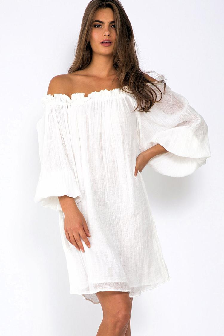 Cheap white beach dresses