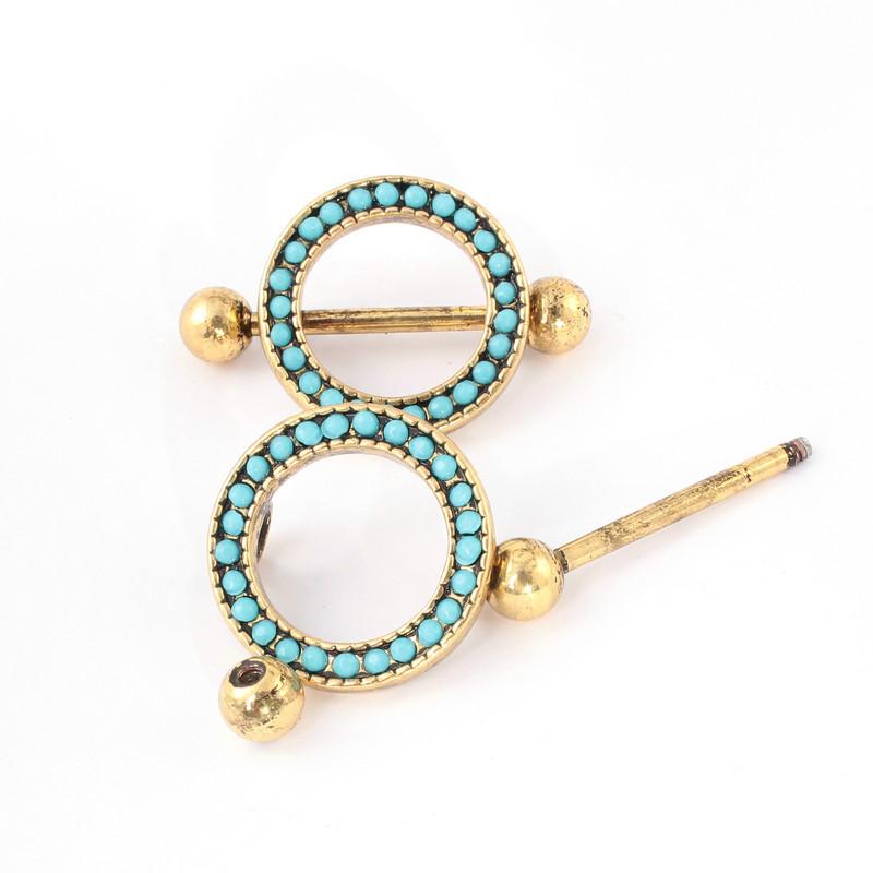 Gold Nipple Ring Shield