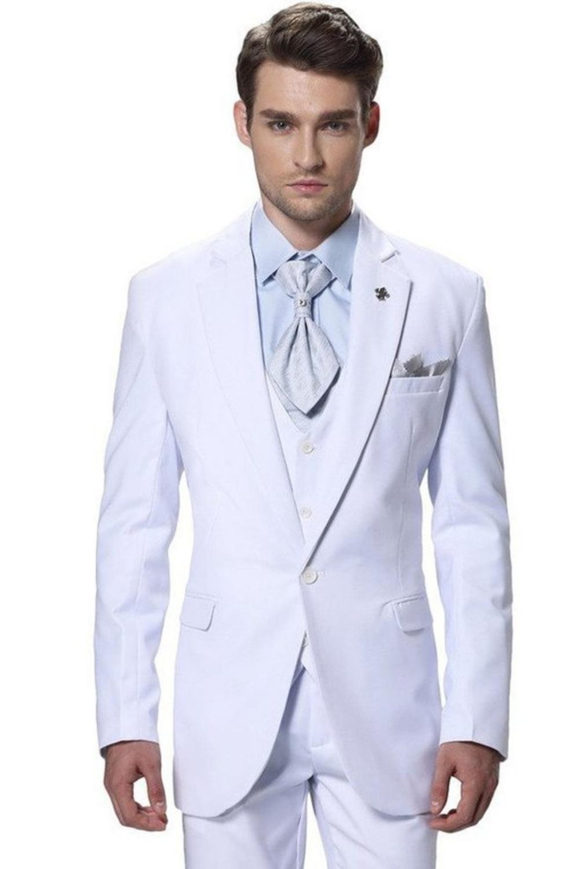 Aliexpress.com Comprar Novio del desgaste Slim Fit traje de novio blanco smoking del novio, trajes de boda por encargo para hombre, trajes para hombre