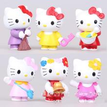 6pc/set 4cm Minecraft Pokemon Toy Pet Shop Doll Toy Model Movie Action Figure Kids Toys Totoro Anime Figure Hello Kitty For Gift