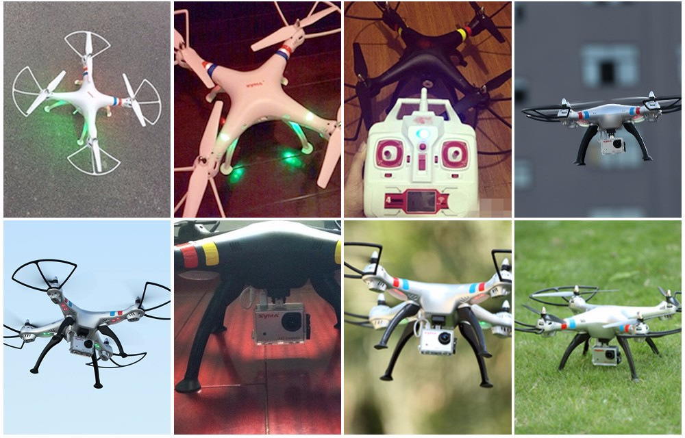 New Arrival SYMA X8HW FPV RC Drone with WiFi HD Camera Real-time Sharing 2.4G 4CH 6-Axis  Quadcopter with Hovering Function