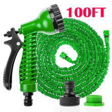 100FT/30cm Expandable Flexible Garden Water Hose Pipe with Spray Nozzle Gun Car wash  With Nozzle (China (Mainland))