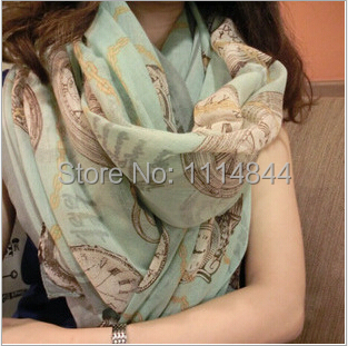 Wonmen Fashion Printed Scarves & Shawls 180*90cm Winter Scarf Vintage Crushed Voile Ladies Scarves 2014 NEW Country Style Scarf(China (Mainland))