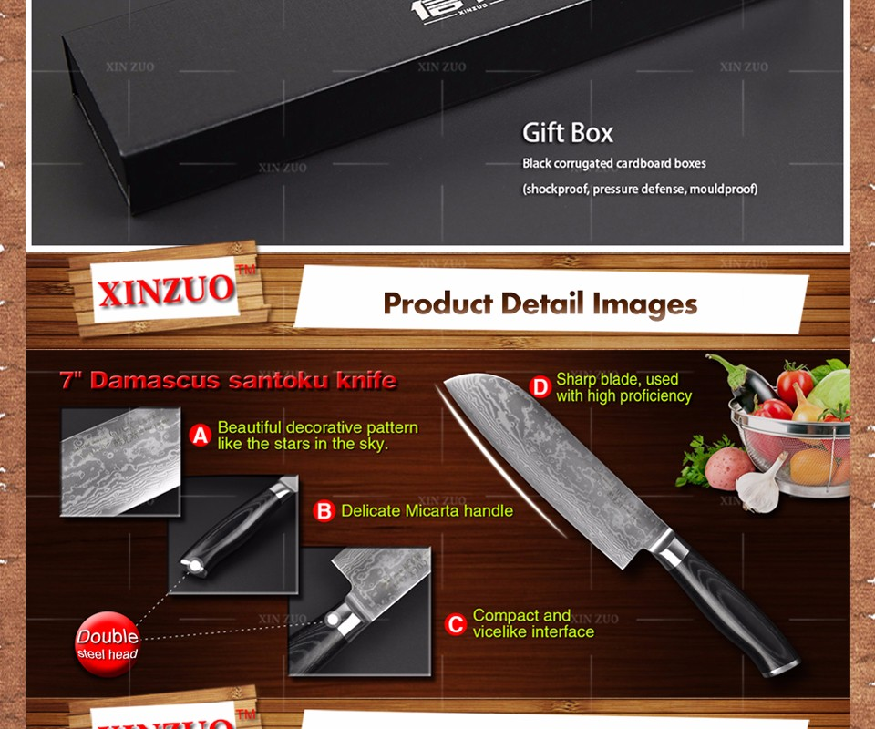 """Buy 7"""" inch chef knife Japanese VG10 73 layer Damascus steel kitchen knife High quality sharp chef knife steel handle free shipping cheap"""