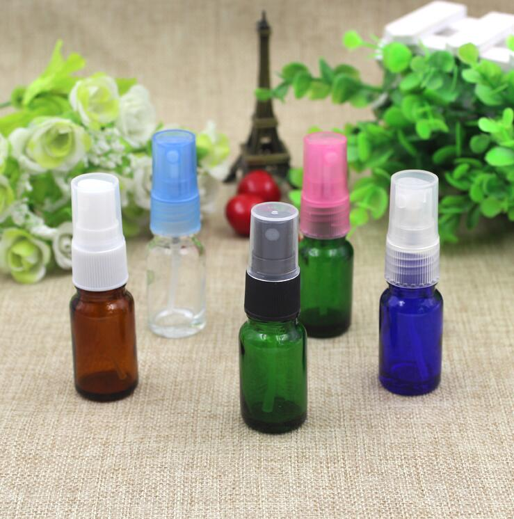Small Oil Essential Cosmetic Empty Bottles for Parfum Mist Refillable Sprayer Empty Astomiser 10ML Glass Perfume Bottle(China (Mainland))