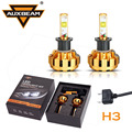 Auxbeam Cree Led Chips Single Beam Car Headlight H3 60W Pair SUV Driving Headlight Bulbs Gold
