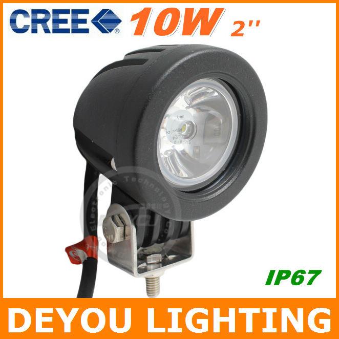 1 piece Free Shipping 10W CREE LED Work Light 12V 24V IP67 Motorcycle head light lamp Motorbike lighting(China (Mainland))