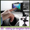 Car Phone Holder suporte celular car styling 360 degree rotating car navigation frame Car clip Cell