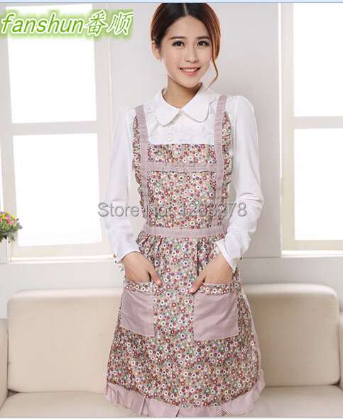 19 styles new women ladies pretty apron purple plaid for Apron designs and kitchen apron styles
